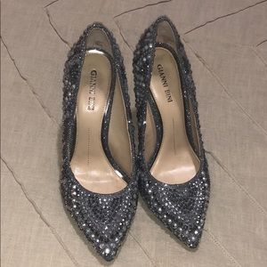 Gianni Bini Zebbi Jeweled Pointed Pumps
